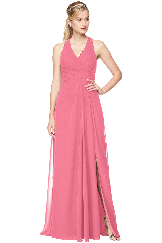 Bill Levkoff ROSEPETAL Chiffon V-Neck A-Line gown, $198.00 Front