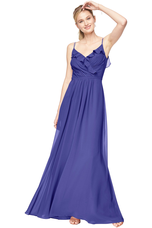 Bill Levkoff HORIZON Chiffon V-Neck A-line gown, $198.00 Front