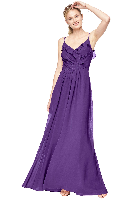 Bill Levkoff REGENCY Chiffon V-Neck A-line gown, $198.00 Front