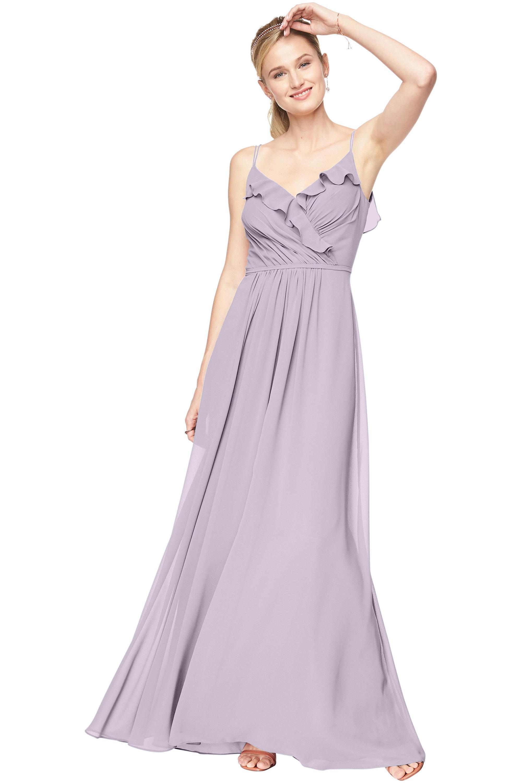 Bill Levkoff VIOLET Chiffon V-Neck A-line gown, $198.00 Front