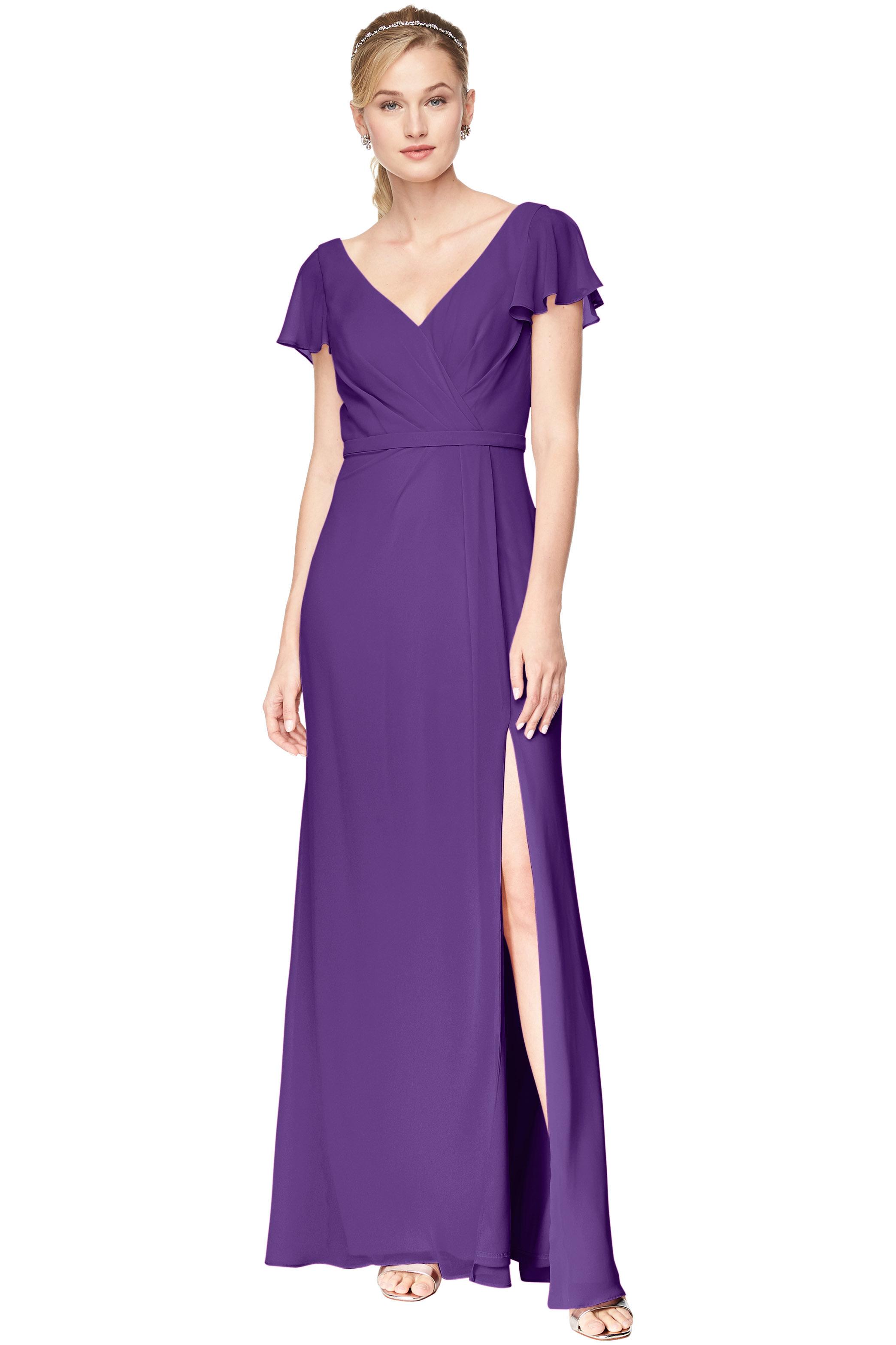 Bill Levkoff Regency Chiffon V-Neck A-Line gown, $184.00 Front