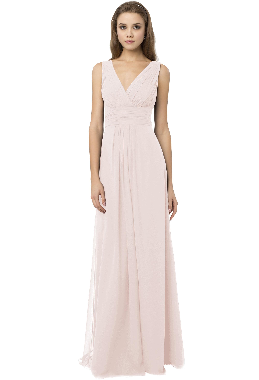Bill Levkoff PETAL PINK Chiffon V-Neck A-line gown, $216.00 Front