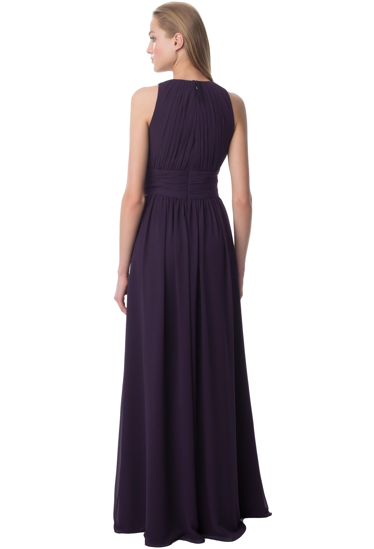 Bill Levkoff PLUM Chiffon Jewel A-line gown, $224.00 Back