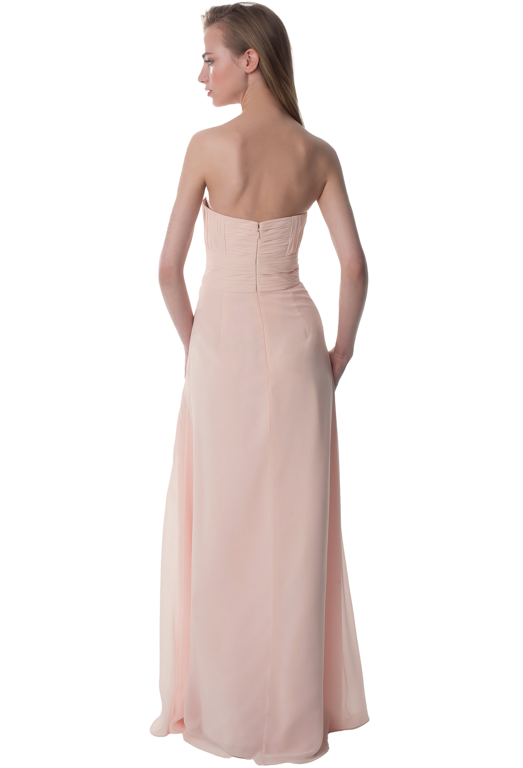 Bill Levkoff HEATHER Chiffon Sweetheart A-line gown, $216.00 Back