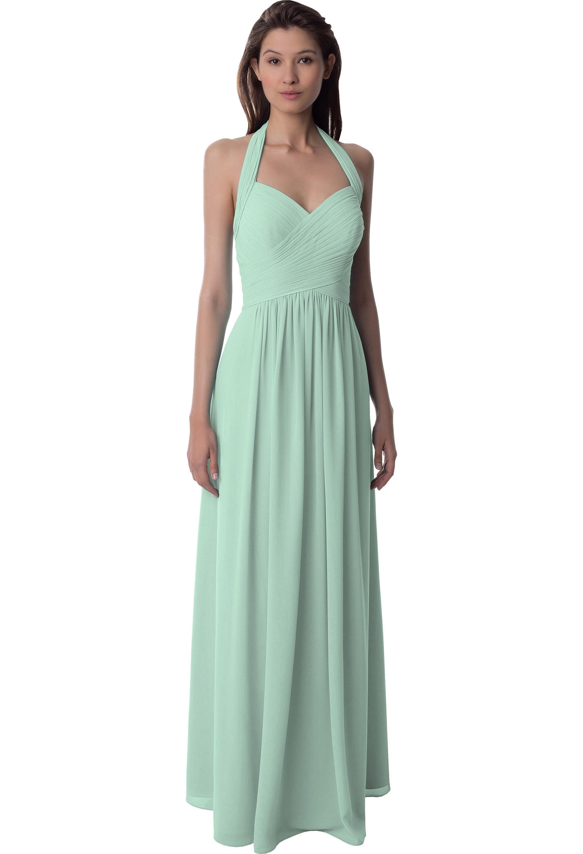 Bill Levkoff MINT Chiffon Sleeveless A-line gown, $220.00 Front