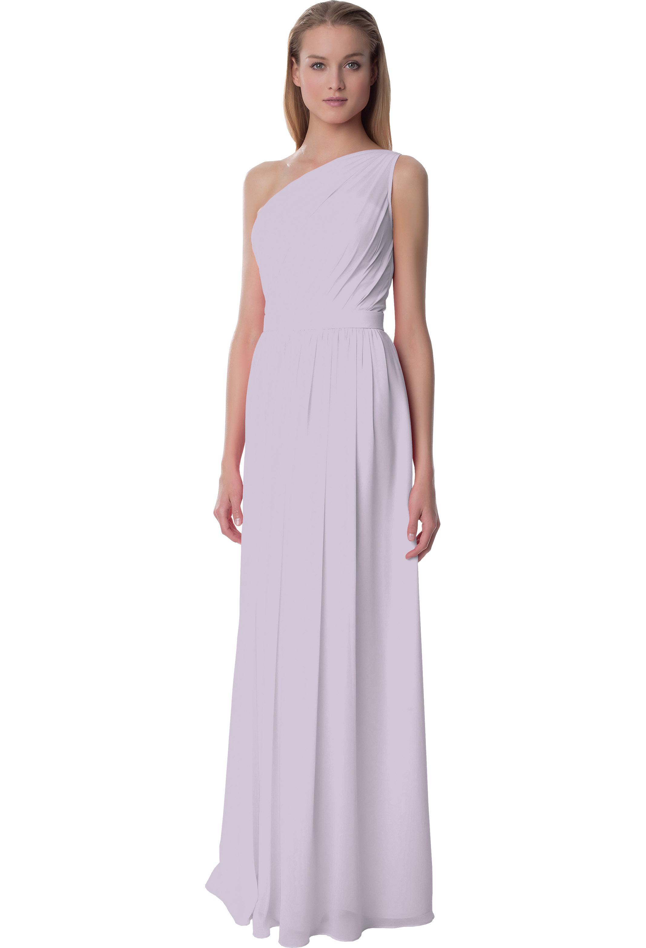Bill Levkoff VIOLET Chiffon One Shoulder A-line gown, $220.00 Front