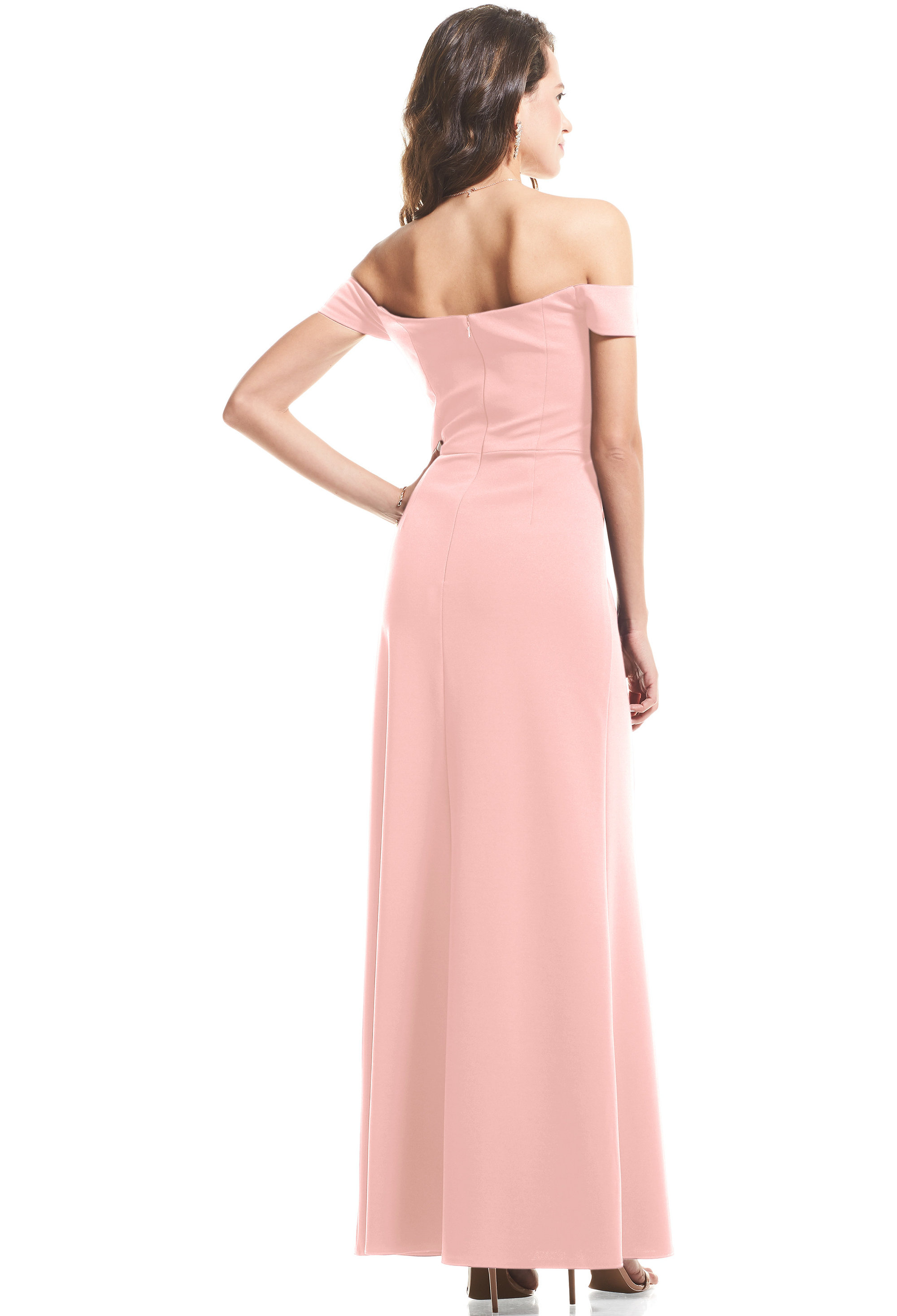 Bill Levkoff FROST ROSE Stretch Crepe Off The Shoulder Mermaid gown, $99.00 Back
