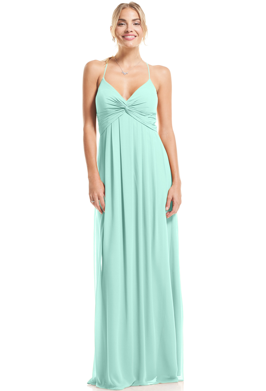 Bill Levkoff MINT Chiffon V-neck A-Line gown, $89.00 Front