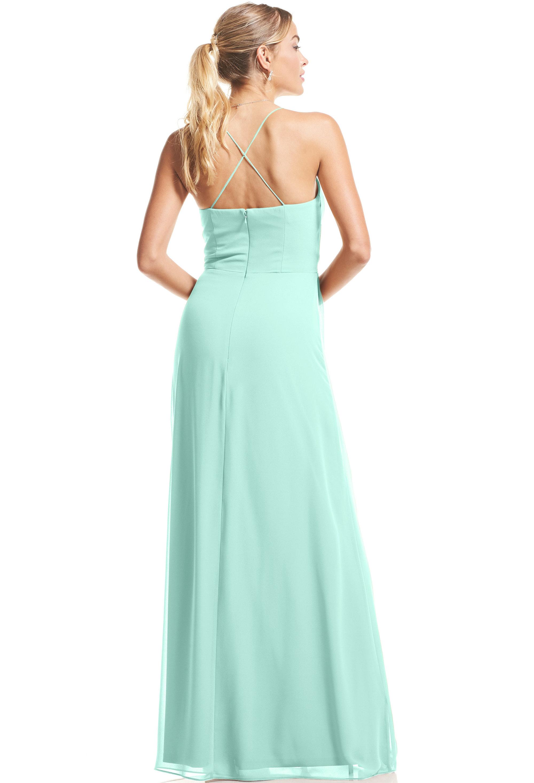 Bill Levkoff MINT Chiffon V-neck A-Line gown, $89.00 Back